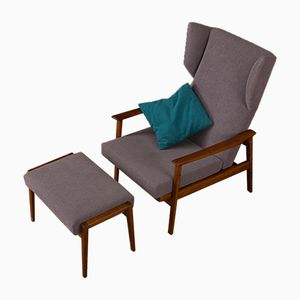 Armchair with Footstool, 1950s