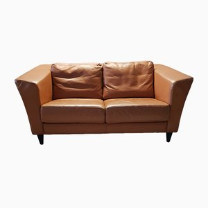 Vintage Leather 2-Seater Sofa from Molinari, 1990s