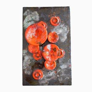 Pilz Wandplatte aus Keramik von Ruscha, 1960er