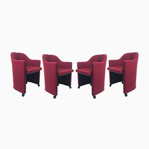PS142 Armchairs by Eugenio Gerli for Tecno, 1960s, Set of 4