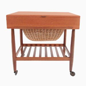 Teak Sewing Table by Ejvind A. Johansson for FDB, 1960s
