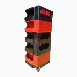 Zweifarbiges tragbares Lagersystem Boby von Joe Colombo für Bieffeplast, 1970er