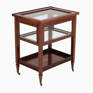 Dutch Mahogany Serving Trolley with Decorative Inlay Details, 1920s