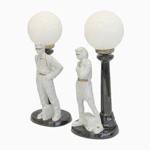 Lámparas de mesa españolas, años 80. Juego de 2
