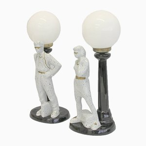 Spanish Table Lamps, 1980s, Set of 2