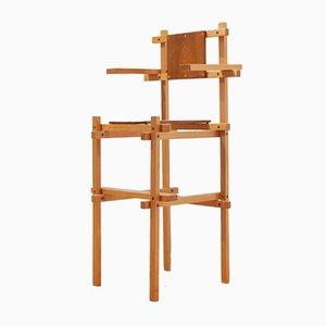 Chaise Haute Moderne Mid-Century par Gerrit Rietveld, 1960s