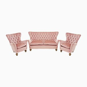 Sofá vintage y dos sillones, años 60