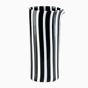 Schwarz-weiße Kanne aus Opalglas von LPWK für Puhro