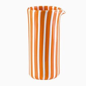 Brocca Pastelli arancione e bianco in vetro opalino di LPWK per Puhro