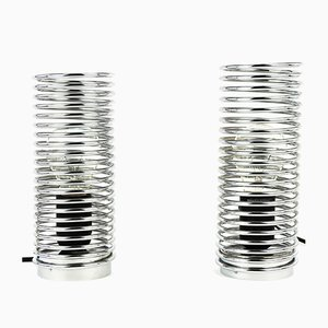 Spiral Lamps from Massive Lighting, 1980s, Set of 2