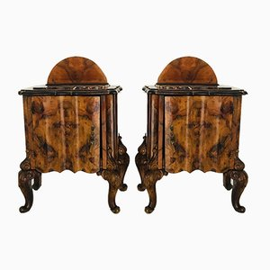 Italian Nightstands, 1930s, Set of 2