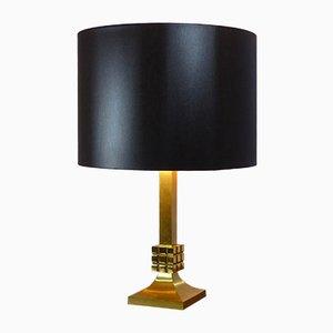 Lámpara de mesa de latón, años 60