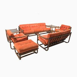 Mid-Century Italian Bamboo Living Room Set, 1960s