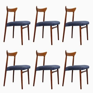 Teak Chairs by Kurt Østervig, Set of 6
