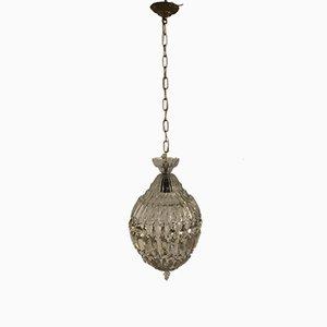 Lámpara colgante vintage de cristal de Murano de Barovier & Toso