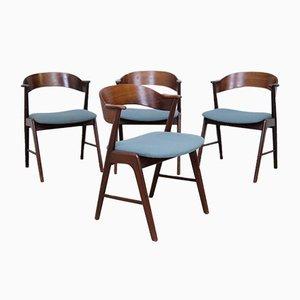 Fauteuils par Kai Kristiansen pour Korup Stolefabrik, 1960s, Set de 4
