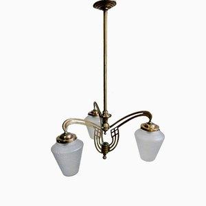 Lámpara de araña española modernista, década de 1900