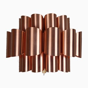 Mid-Century Danish Copper Wall Lamp by Werner Schou