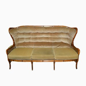 Vintage Sofa with Viennese Mesh
