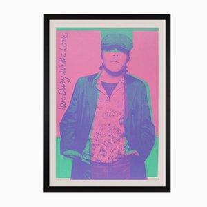 Poster promozionale Ian Dury di Barney Bubbles, 1977