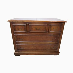 Solid Mahogany Chest of Drawers from Tricoire, 1980s