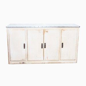 Vintage Aluminum & Pine Sideboard