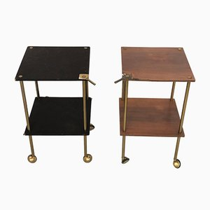 Brass Trolleys by Luigi Caccia Dominioni for Azucena, 1950s