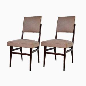 Sedie da pranzo in legno di Dassi, anni '50, set di 2