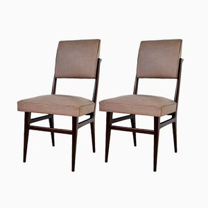 Wooden Dining Chairs from Dassi, 1950s, Set of 2