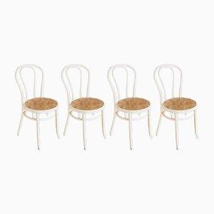 Weiße italienische Holzstühle von Dal Vera, 1980er, 4er Set