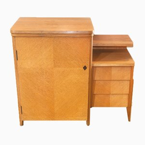 Mid-Century Oak Sewing Table, 1960s