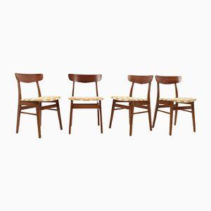 Dänische Stühle aus Teak, 1960er, 4er Set
