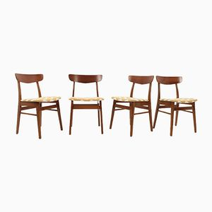 Danish Teak Chairs, 1960s, Set of 4