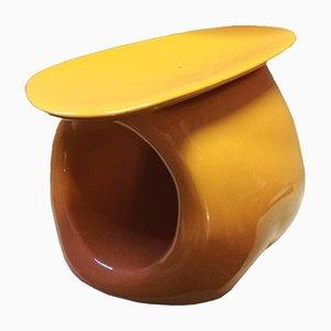 Secchiello per il ghiaccio e portabottiglia in ceramica di Lorenzo Zanovello, anni '90