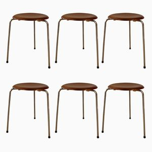 Model 3170 Ant Stools by Arne Jacobsen for Fritz Hansen, 1950s, Set of 6