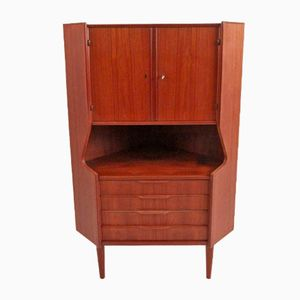 Vintage Danish Teak Corner Cabinet