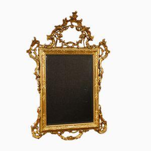 Vergoldeter Spiegel aus Holz, 1950er