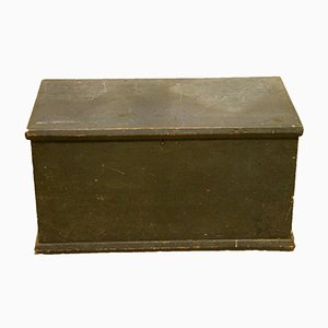 Painted Pine Storage Box, 1850s