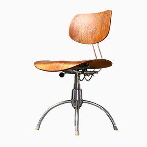 SE 40 Drehstuhl aus Teakfurnier von Egon Eiermann für Wilde+Spieth, 1960er
