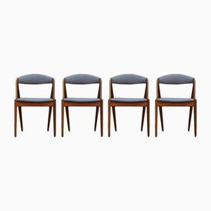 Dänische Vintage Stühle von Kai Kristiansen, 4er Set