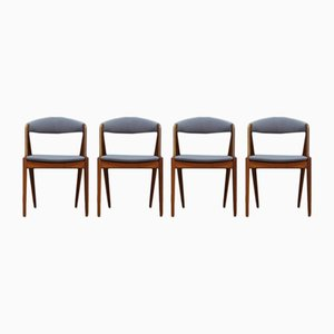 Vintage Danish Chairs by Kai Kristiansen, Set of 4
