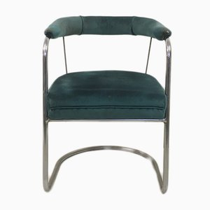 Modernist SP4 Tubular Steel Armchair by Oliver Bernard for Pel, 1930s