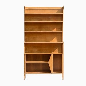 Light Wood Open Bookcase, 1950s