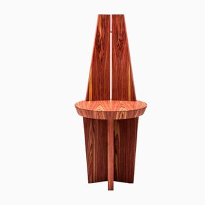 Rosewood & Copper Povera Chair by Antonio Aricò for Editamateria
