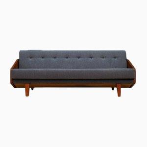 Sofá cama escandinavo vintage de teca
