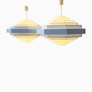 Large Metal Lamps from Spectral, 1980s, Set of 2