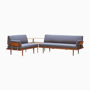 Modernes dänisches Sofa Set aus Teak von Peter Hvidt & O.M. Nielsen für France & Son, 1950er