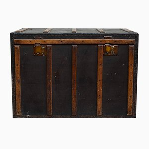 Italian Travel Trunk in Leather Imitation, 1930s