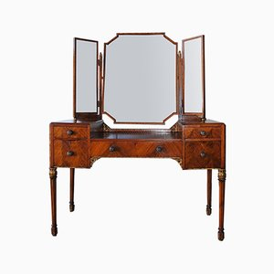 Antique Dressing Table & Vanity Mirror