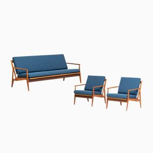 Model 6 Living Room Set by Arne Vodder for Vamø Soderberg, 1950s